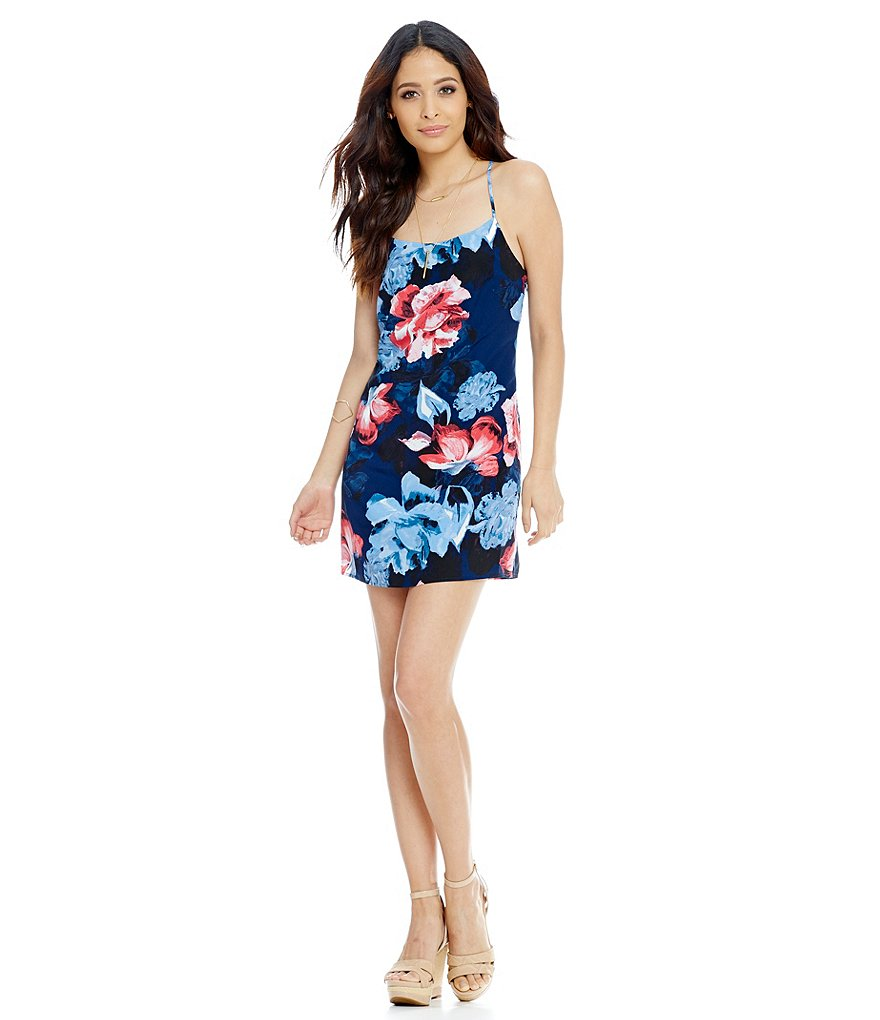 1. STATE Racerback Floral Shift Dress