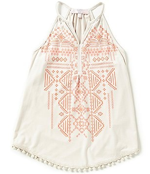 Moa Moa Big Girls 7-16 Tribal-Print Tank Top