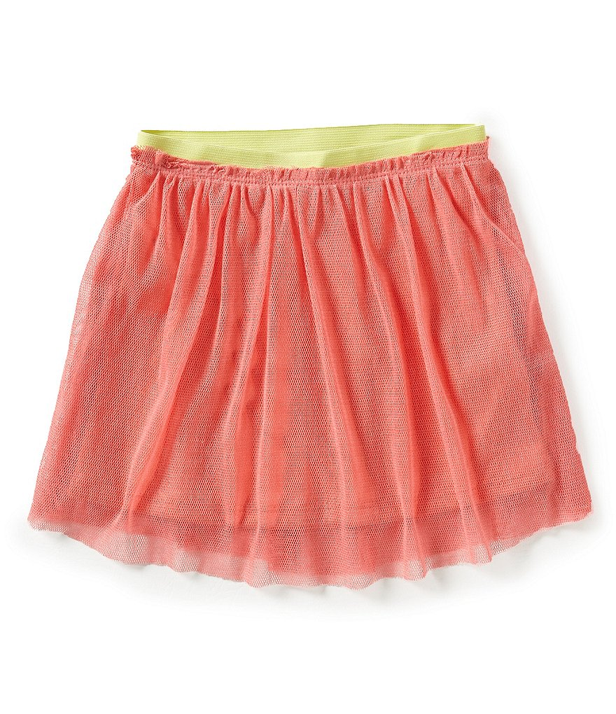 Jessica Simpson Little Girls 2T-6X Keely Marled Mesh Skater Skirt