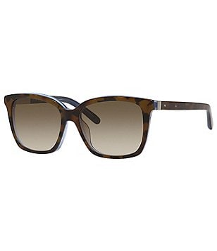 Bobbi Brown The Alexandra Oversized Gradient Classic Retro Rectangle Sunglasses