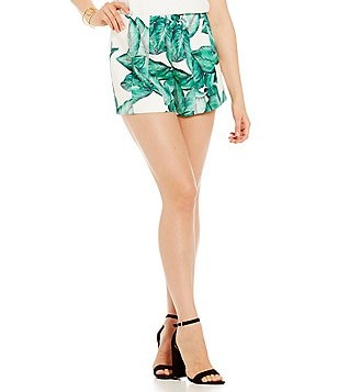 C/MEO Night Light Palm Print Flat Front Shorts