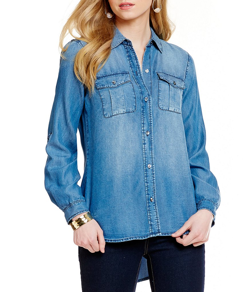 Cremieux Jake Chambray Blouse