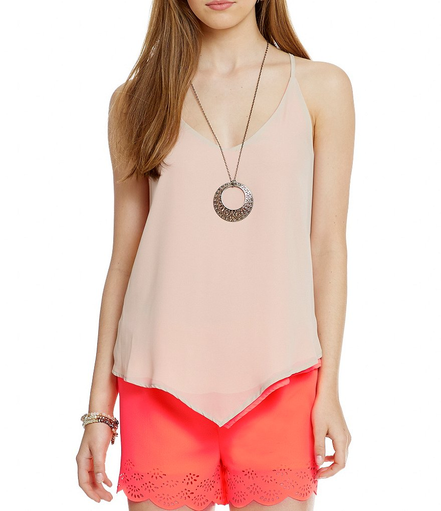 Soulmates Reversible Scarf Hem Necklace Top