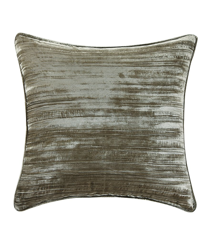 Poetic Wanderlust ™ by Tracy Porter Astrid Striated Velvet Square Feather Pillow