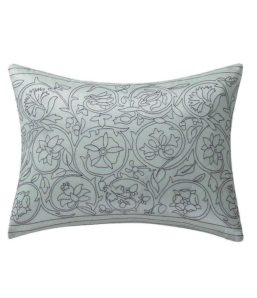 Poetic Wanderlust™ by Tracy Porter Astrid Floral-Embroidered Faux-Silk Pillow