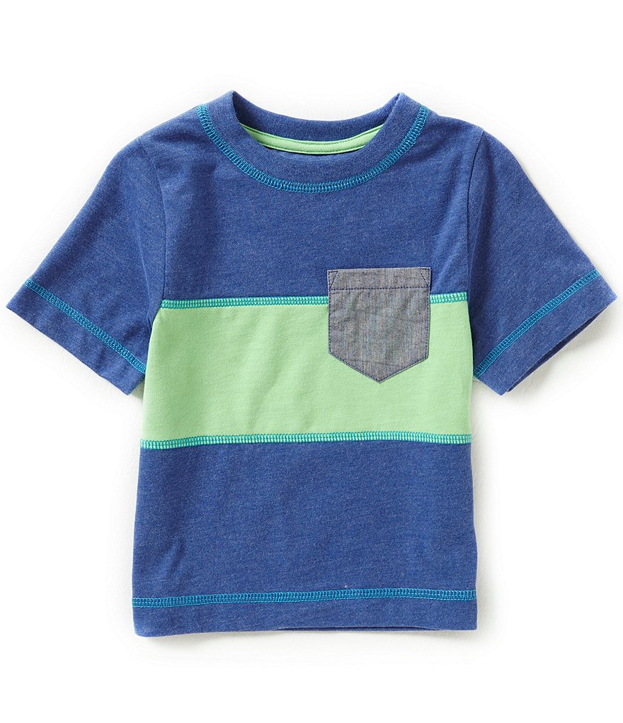 Adventure Wear By Class Club Little Boys 2T-5 Striped Pocket Tee