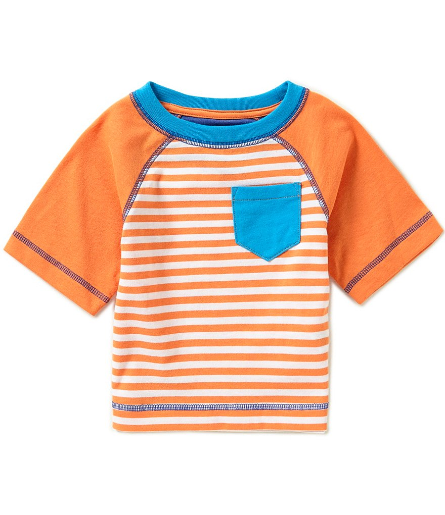 Adventure Wear By Class Club Little Boys 2T-5 Striped Short-Sleeve Raglan Tee