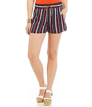 Splendid Beachcomber Stripe Drawstring Shorts