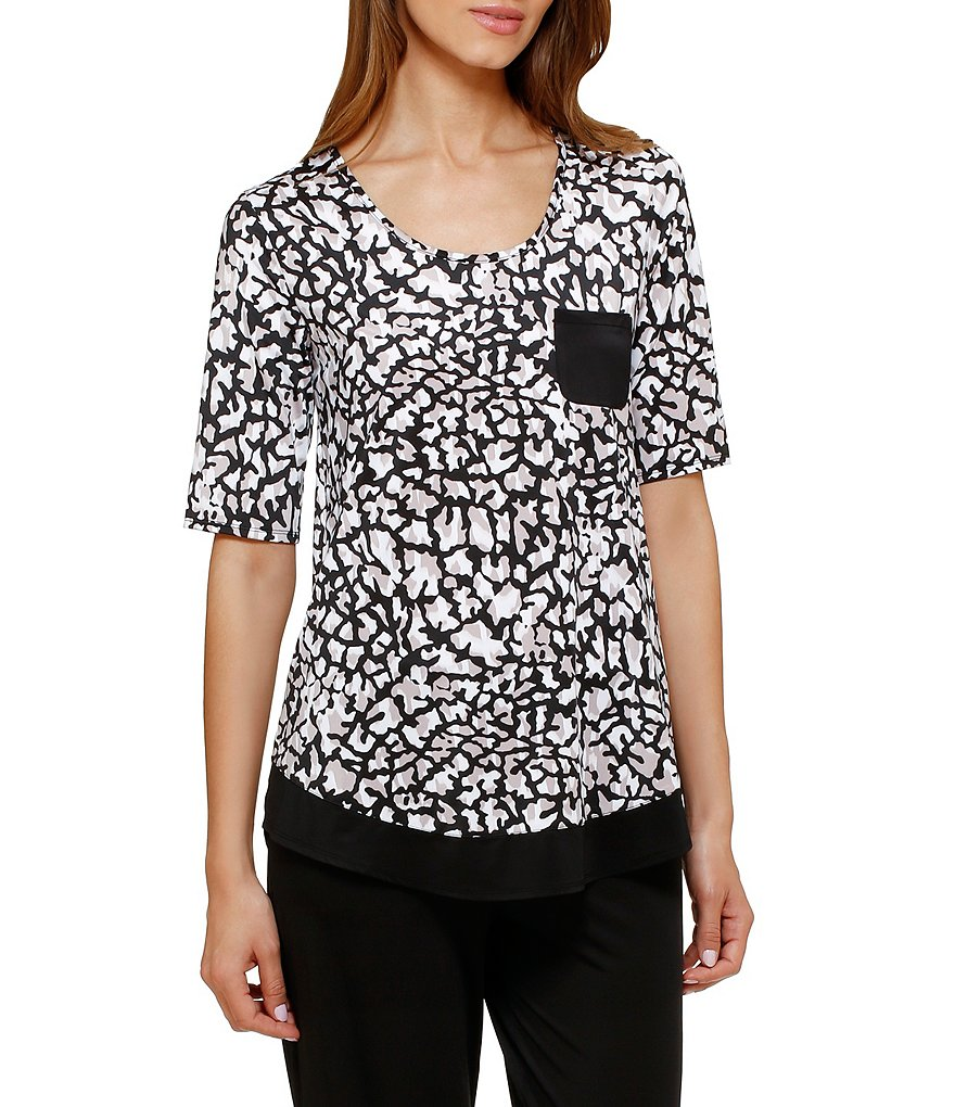 Anne Klein Animal-Print Sleep Top