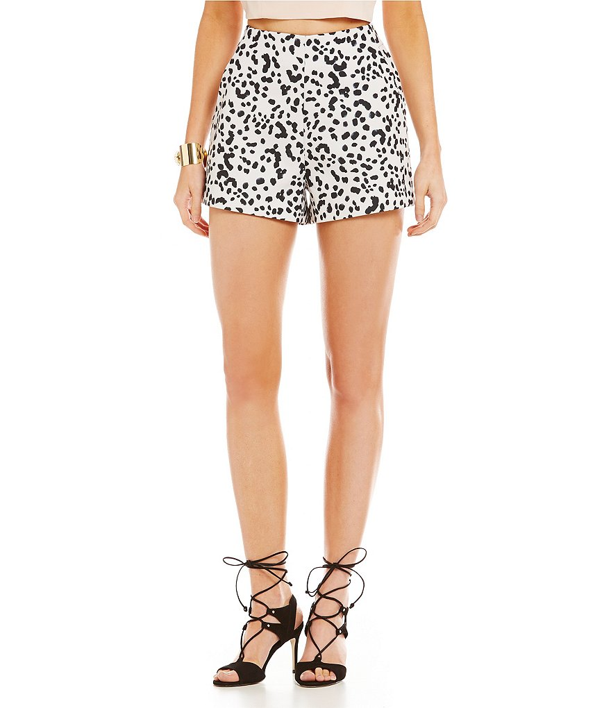 Keepsake Speechless Printed Fitted Shorts