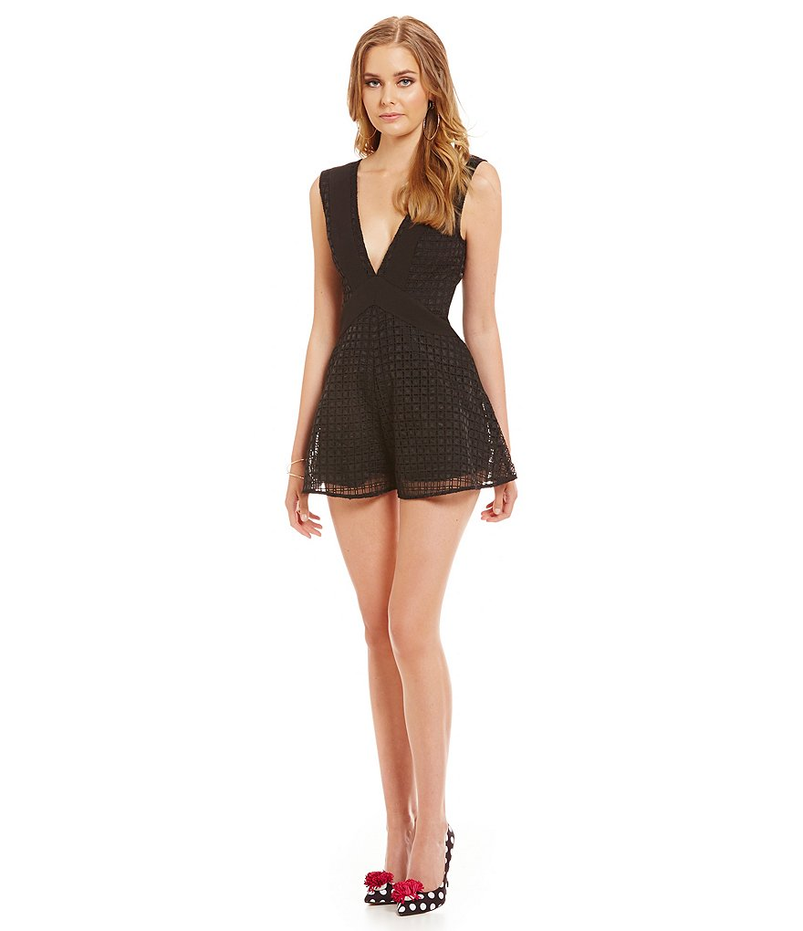 Finders Keepers Begin Again V-Neck Playsuit