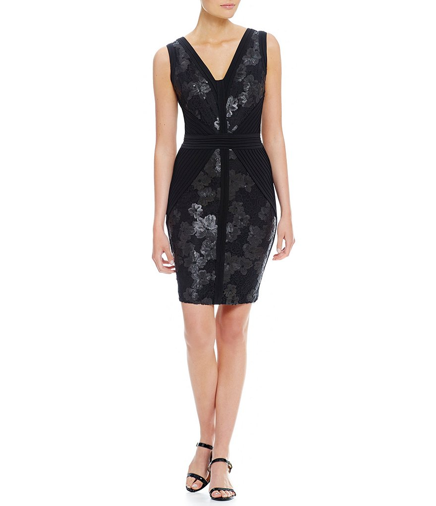 Calvin Klein Bandage Side with Lace Insets Dress
