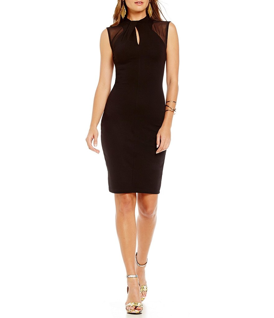 French Connection Tanie Tuck Cap Sleeve Fitted Dress