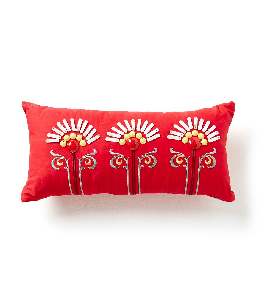 Echo Jaipur Beaded Boudoir Pillow