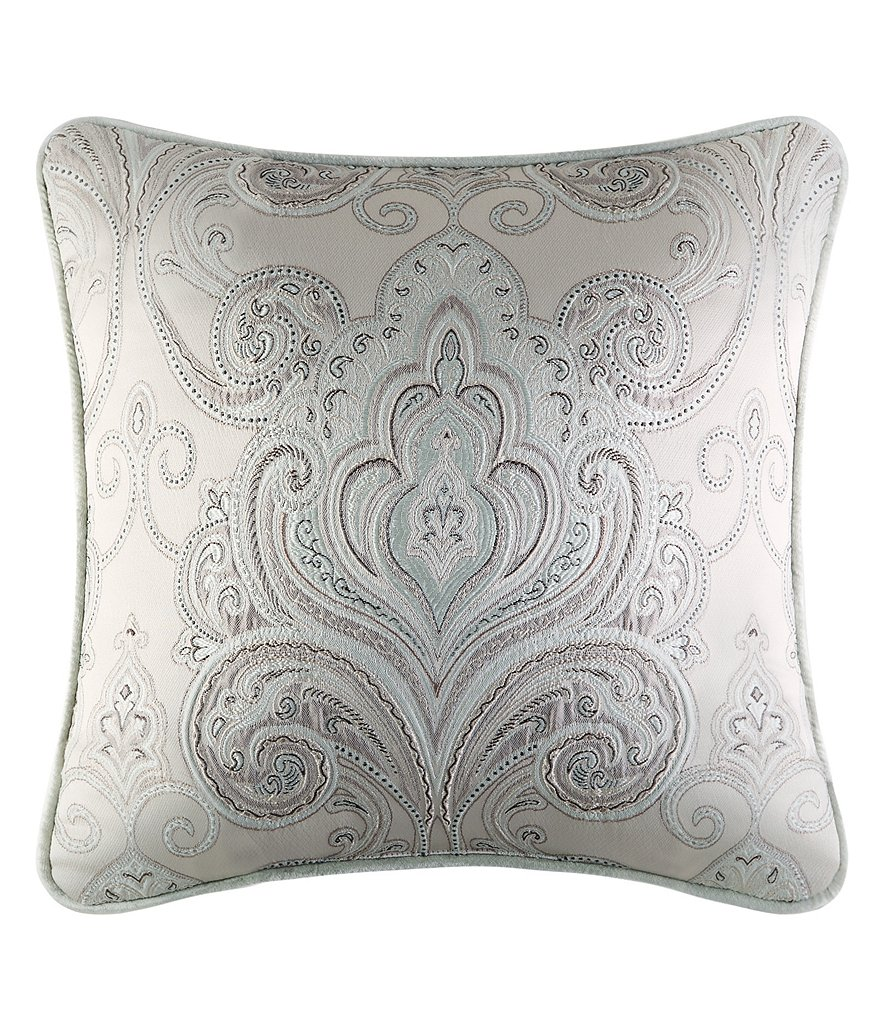 J. Queen New York Romance Spa Velvet-Corded Damask Square Pillow