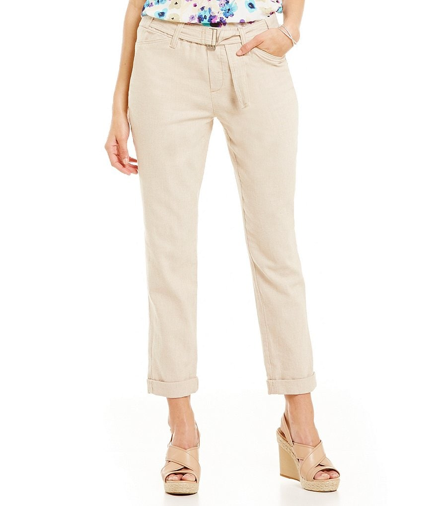 NYDJ Jasmine Stretch Rolled-Cuff Ankle Pants