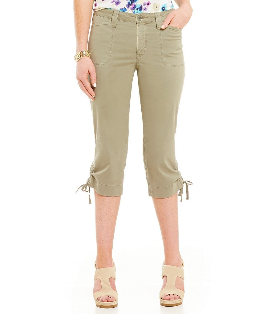 NYDJ Abbie Crop Jeans with Side Ties