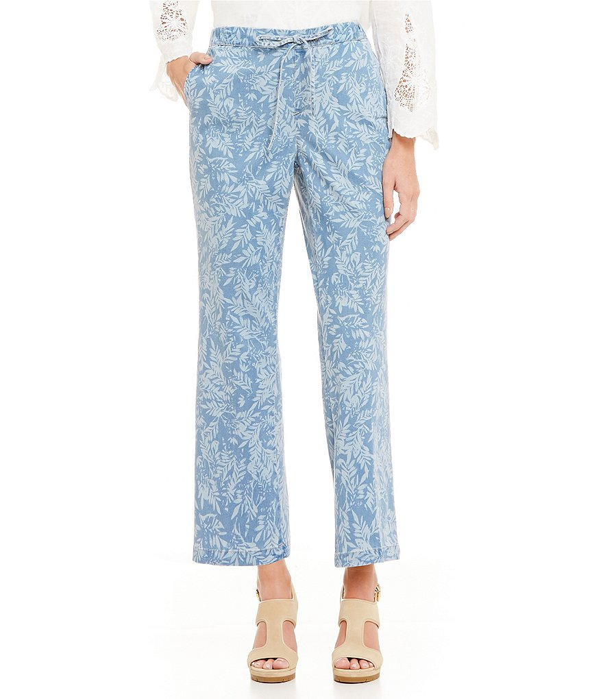 NYDJ Jamie Printed Relaxed Ankle Jeans