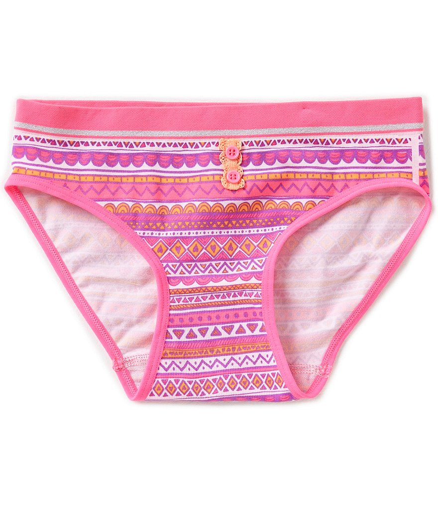 GB Girls Big Girls 7-16 Seamless Tribal Hipster Underwear