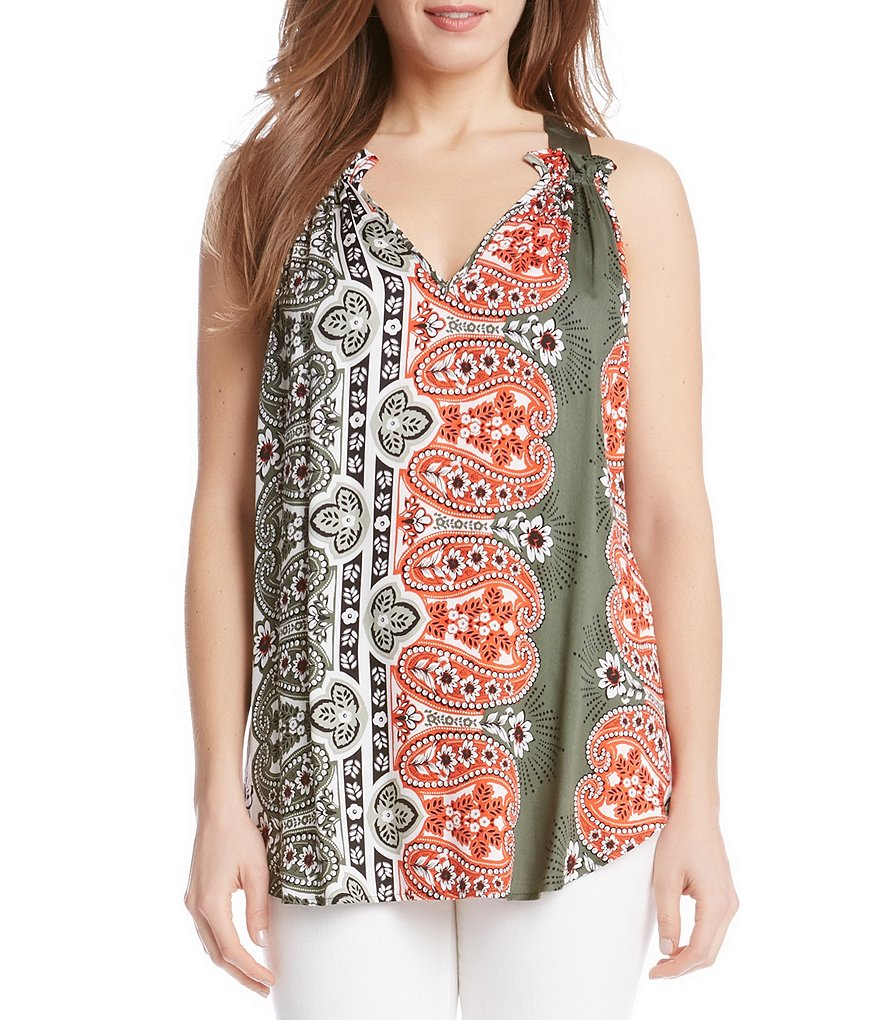Karen Kane Printed V-Neck Top