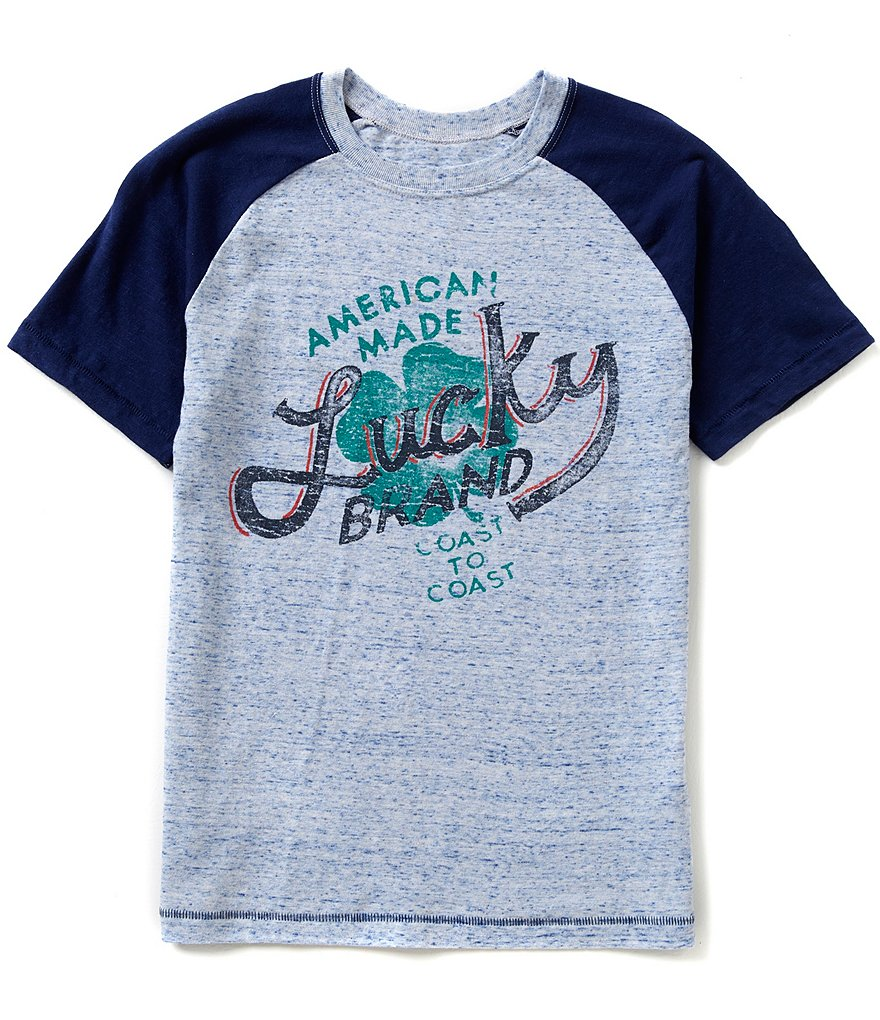 Lucky Brand Big Boys 8-20 Short-Sleeve Raglan Tee