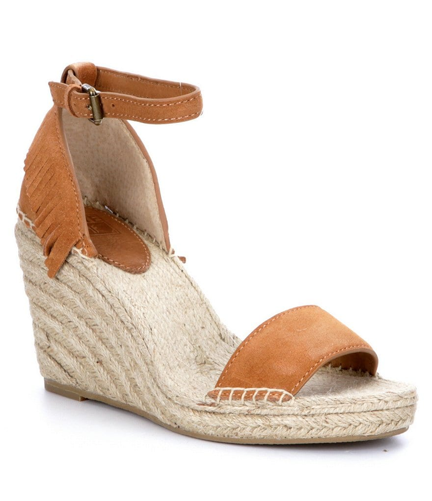 Frye Lila Feather Wedge Sandals