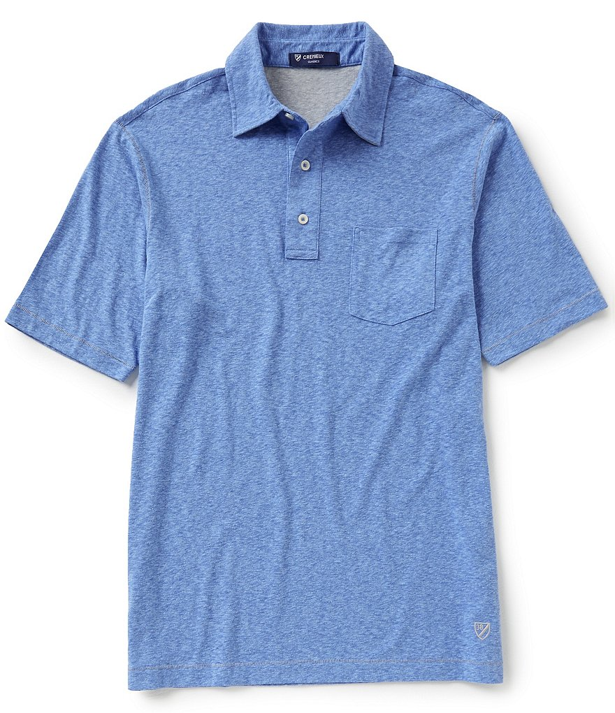 Cremieux Short-Sleeve Snow Polo Shirt