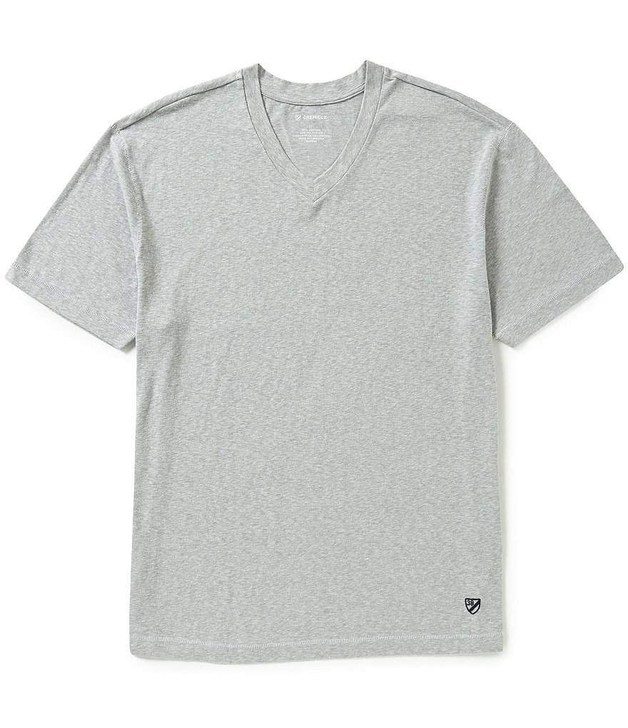 Cremieux Short-Sleeve Snow V-Neck Tee