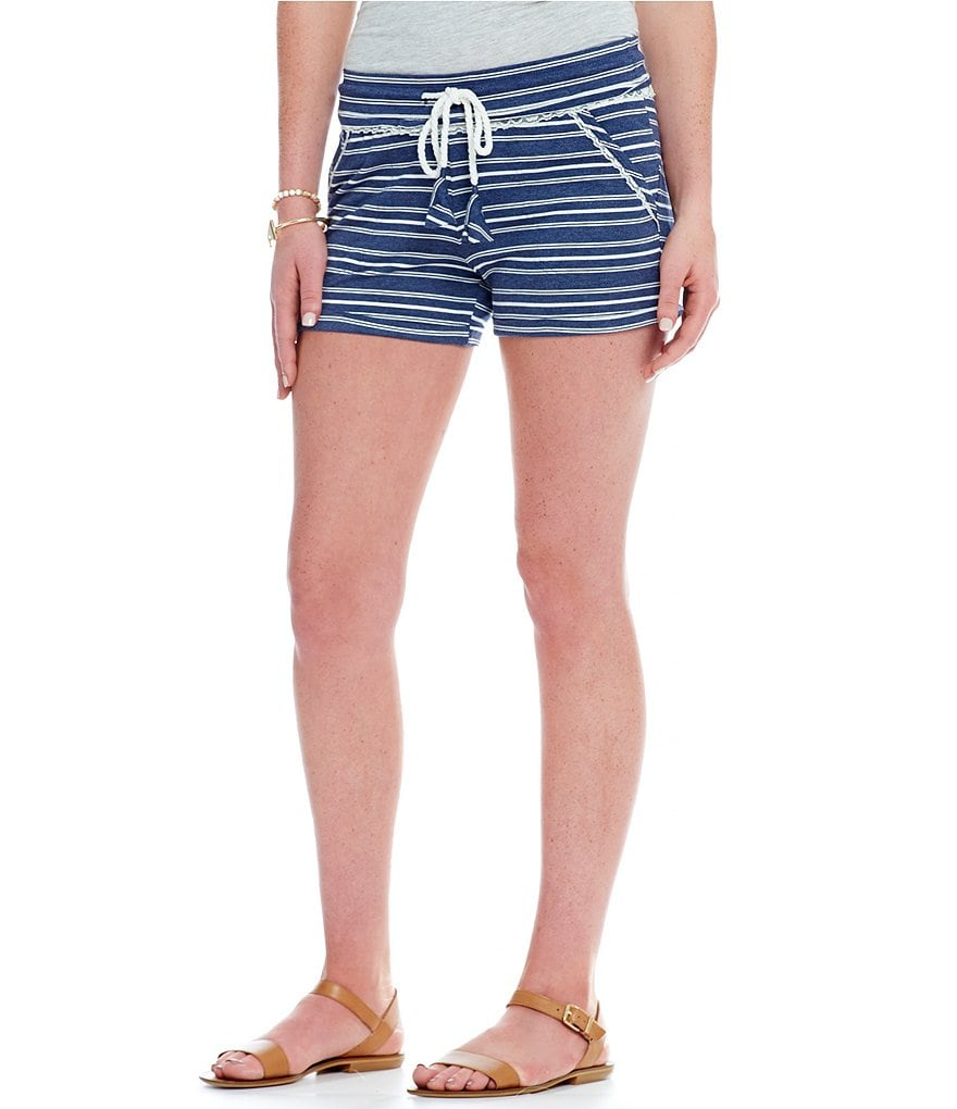 Jolt Striped Knit Shorts