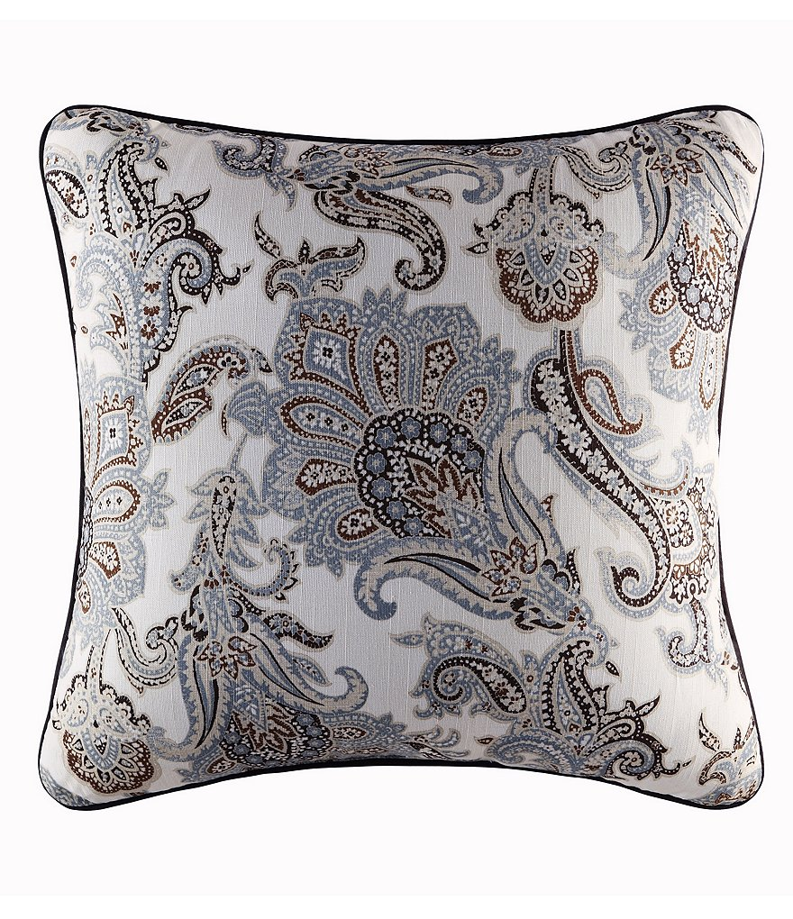 Piper & Wright Pearcely Paisley Slub Cotton Square Pillow