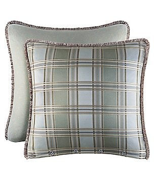 Piper & Wright Adeline Fringed Plaid Euro Sham