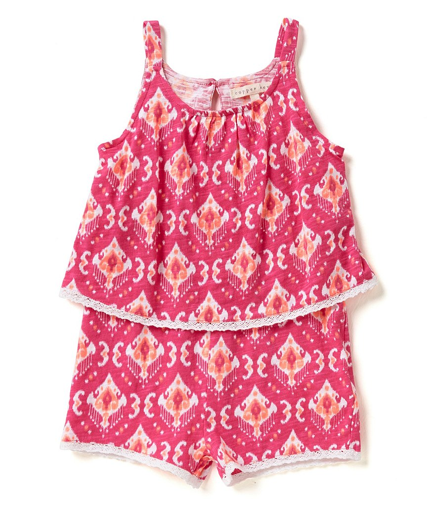 Copper Key Little Girls 4-6X Ikat Romper