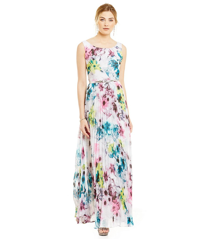 S.L. Fashions Daisy-Floral Printed Maxi Dress