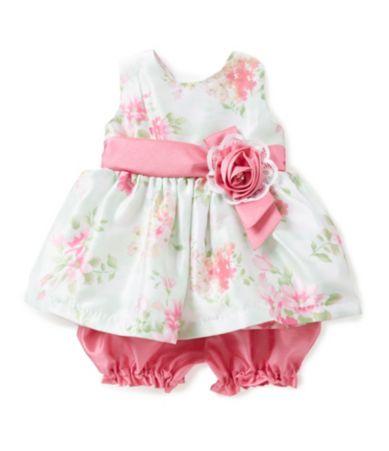 Jayne Copeland Baby Girls 12 24 Months Floral Print Dress
