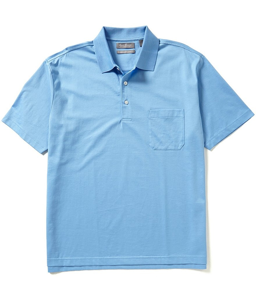Daniel Cremieux Signature Short-Sleeve Pocket Polo Shirt