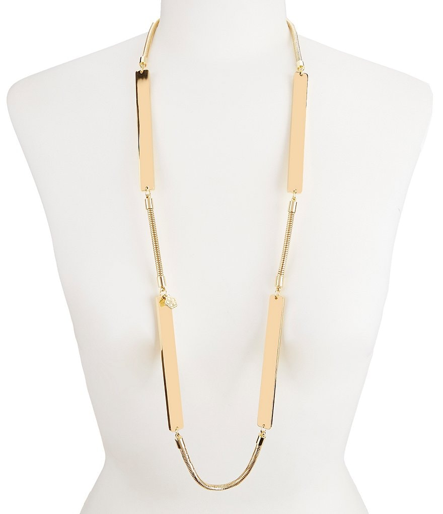 Trina Turk Mod Moments Illusion Bar Station Necklace