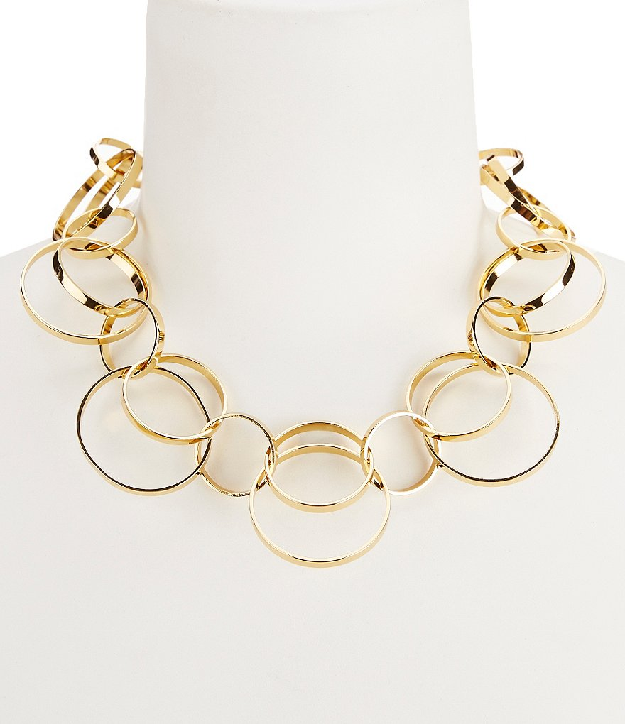 Trina Turk Mod Moments Interlocking Rings Collar Necklace