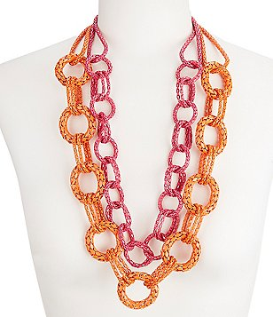 Trina Turk Mod Moments Double-Row Chain Necklace