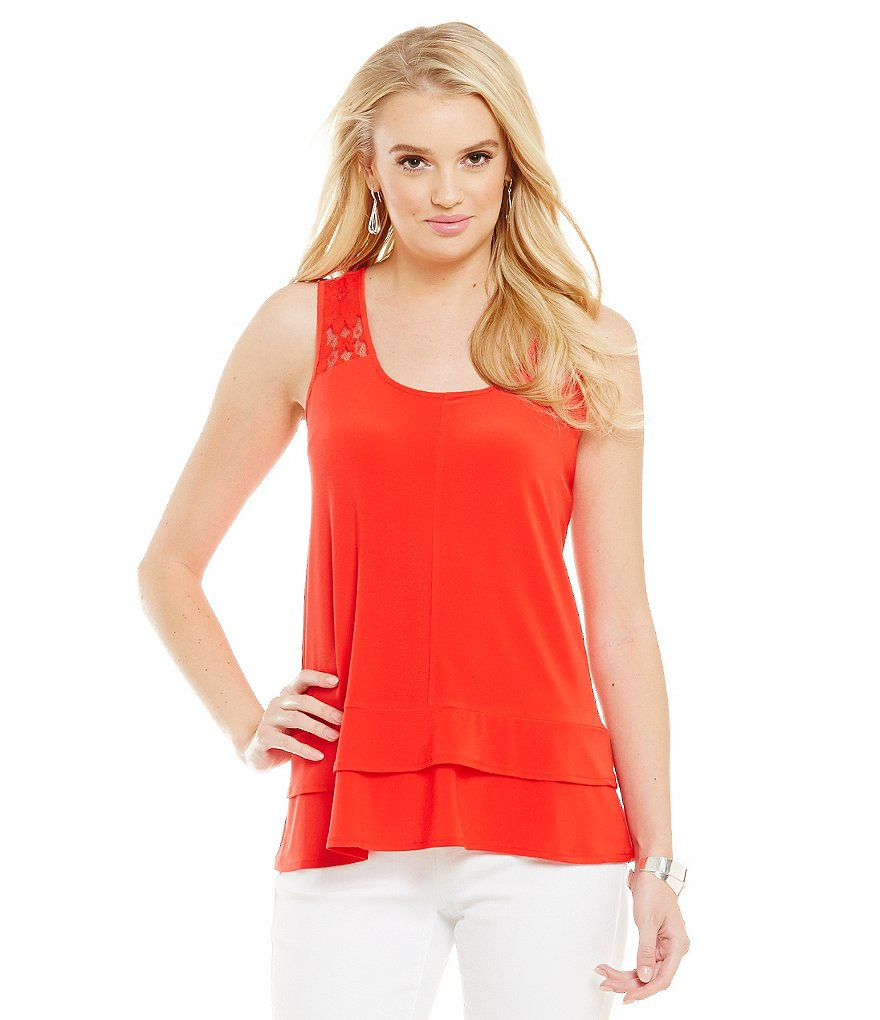 CeCe Lace Sleeveless Knit