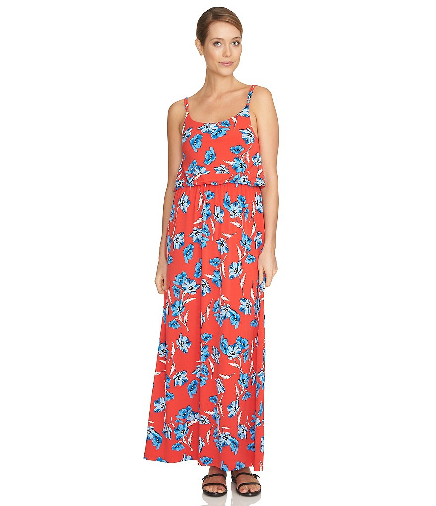 CeCe Floral Dance Knit Maxi Dress