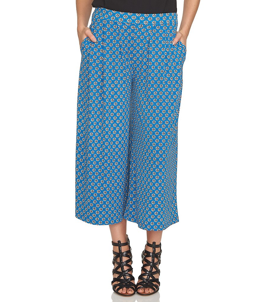 CeCe Medallion Ditsy Printed Knit Pant