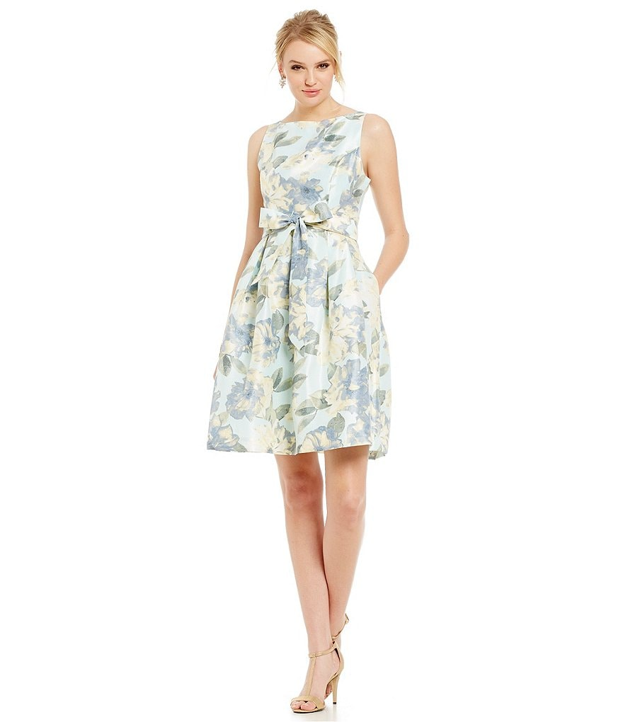 Jessica Howard Floral Belted Fit-and-Flare Dress