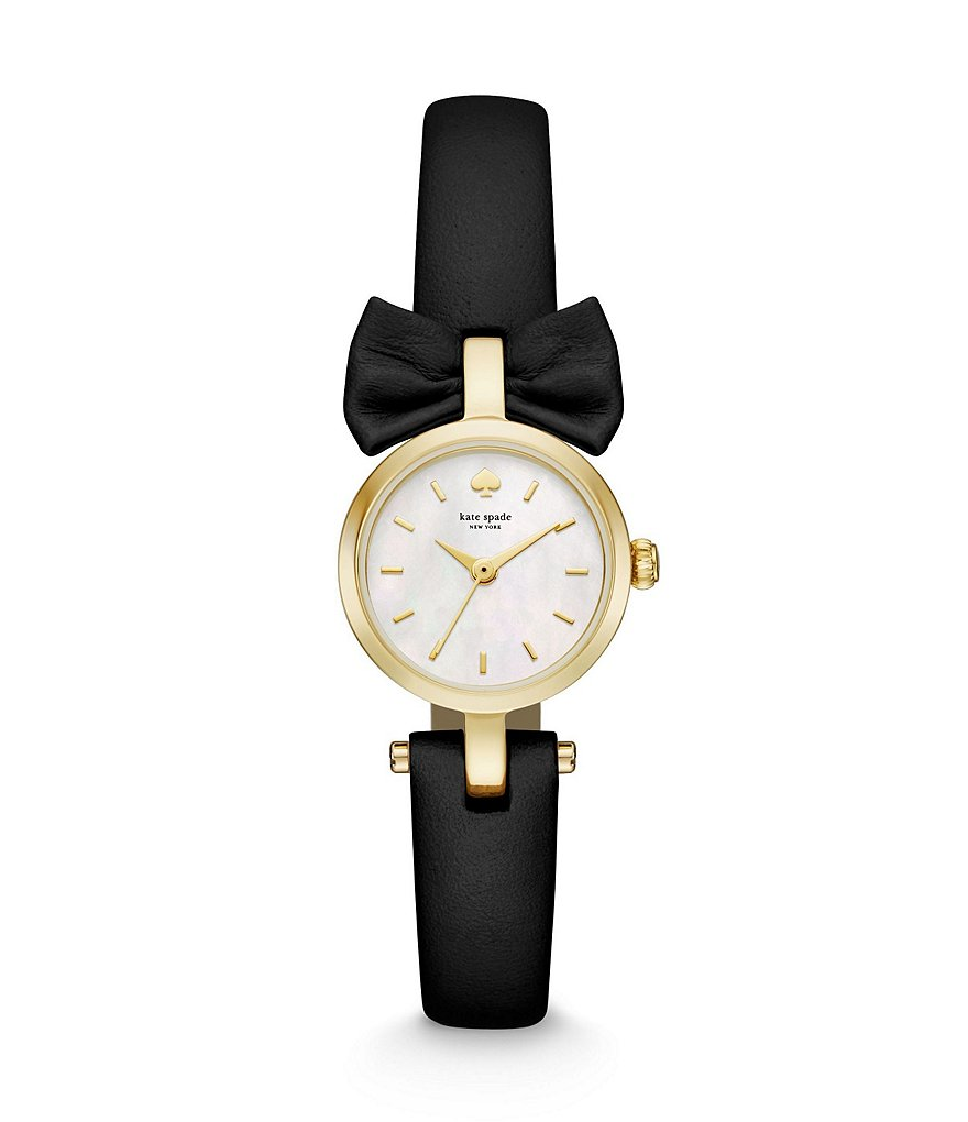 kate spade new york Metro Mini Bow Stainless Steel 3 Hand Watch