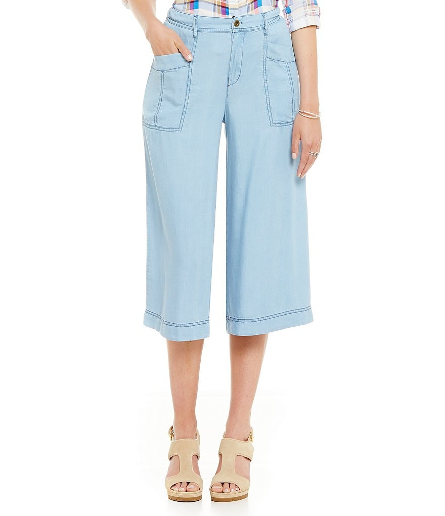 Chelsea & Theodore Chambray Gaucho Pants