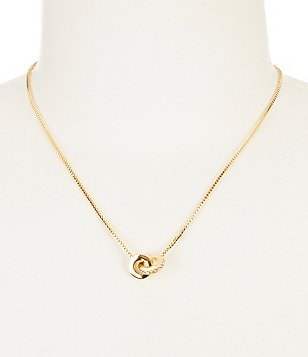 kate spade new york Infinity & Beyond Gold Plated Glass Stone Pendant Necklace