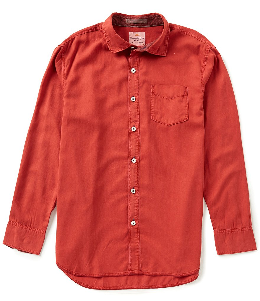 Tommy Bahama Long-Sleeve Still Twillin Solid Woven Shirt