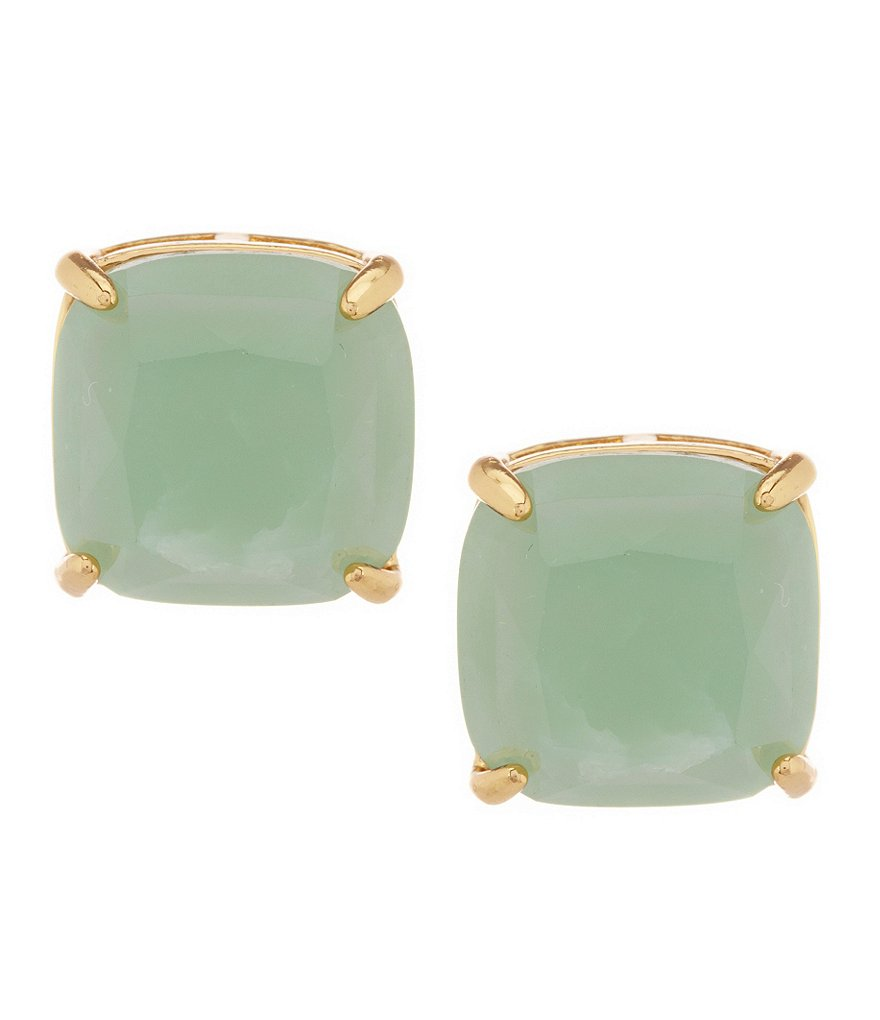 kate spade new york Semiprecious Small Square Gold Plated Stud Earrings