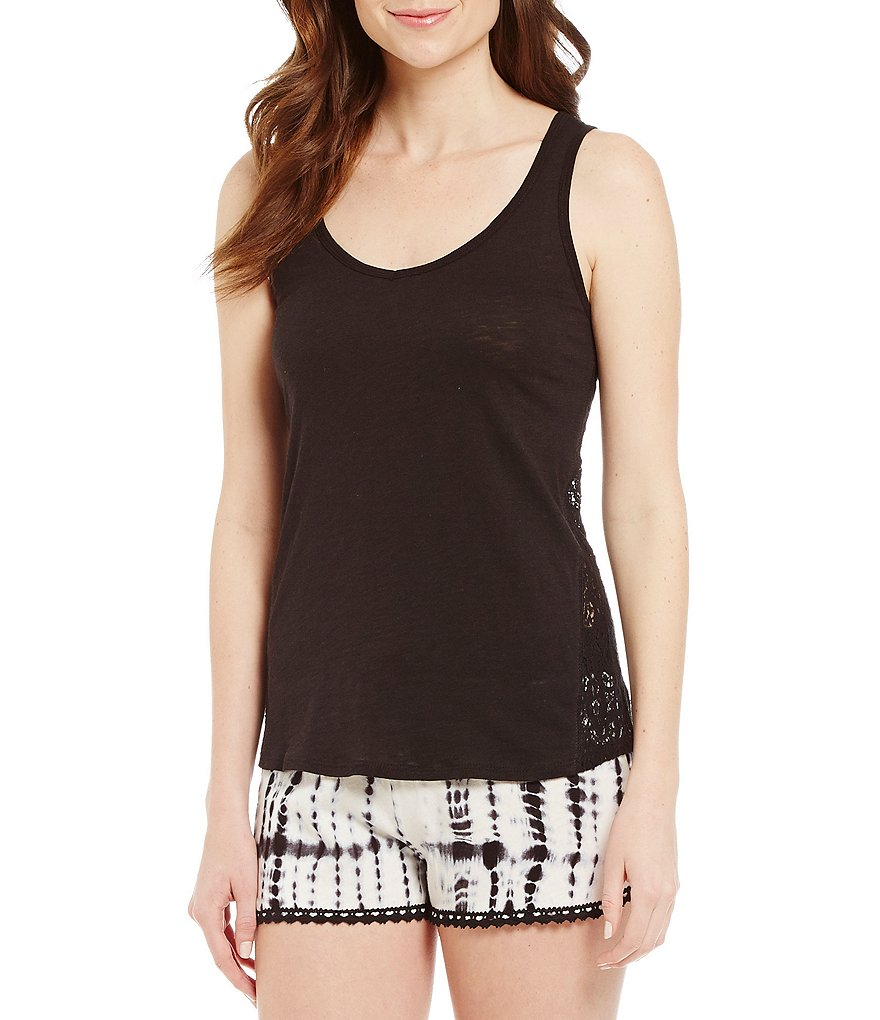 PJ Salvage Racerback Jersey Knit Sleep Tank Top