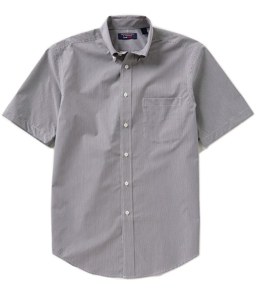 Roundtree & Yorke Travelsmart Short-Sleeve Checked Sportshirt