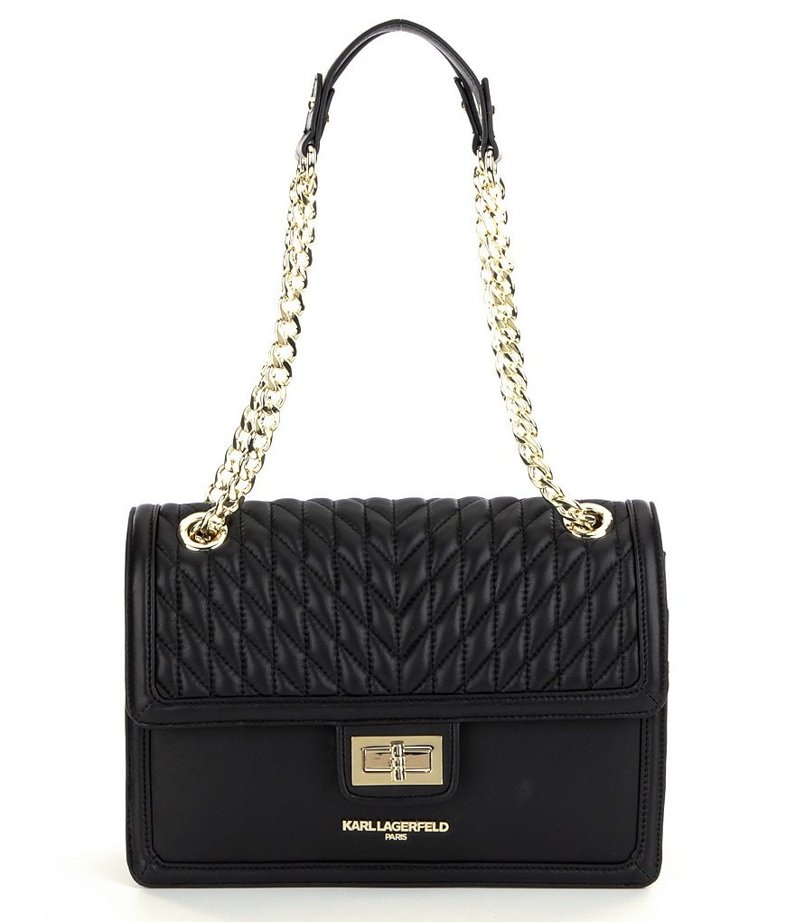 Karl Lagerfeld Agyness Quilted Chain Strap Shoulder Bag